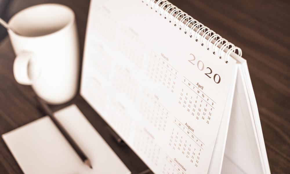 Calendário 2020 para e-commerce