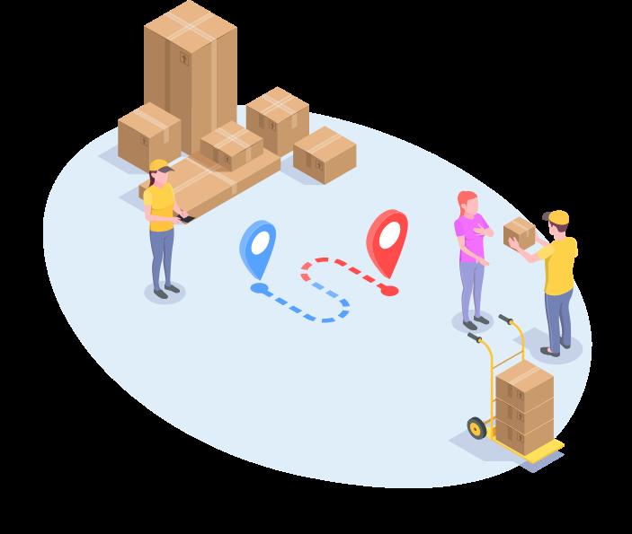 operação de entrega plataforma de e-commerce para distribuidores
