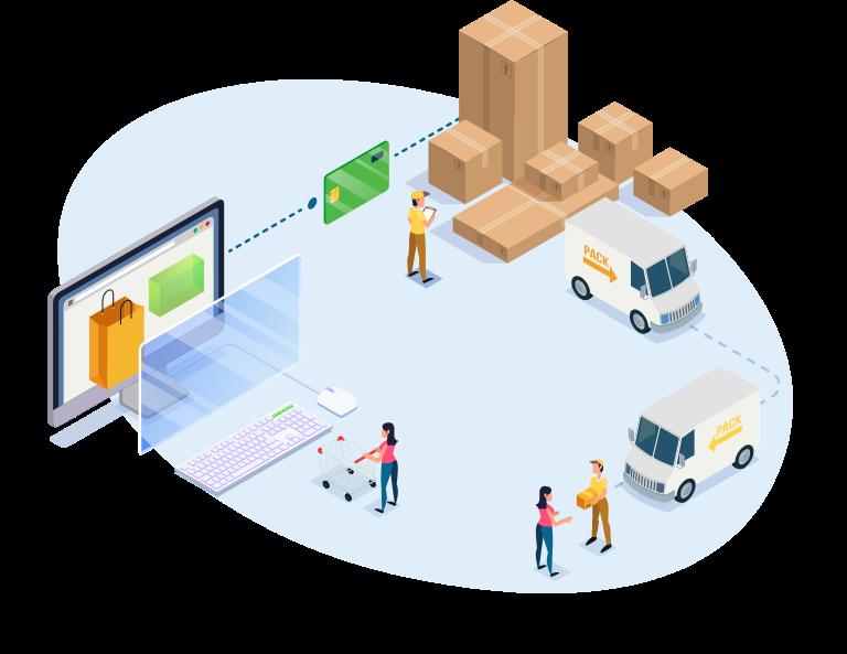 operação de e-commerce